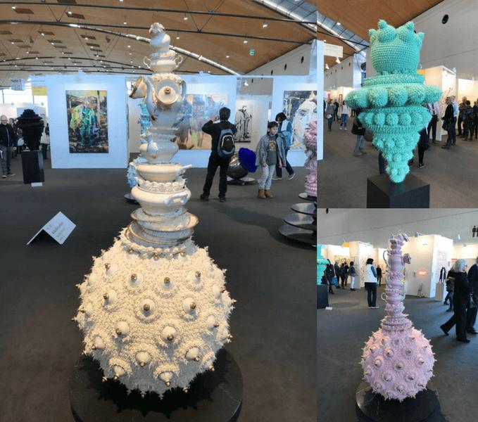 Sahnetorten, Skulturen, echtes Porzellan, Silkonfigut, auf der Art Karlsruhe