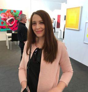 Francesca Tinnirello, auf der Art Karlsruhe